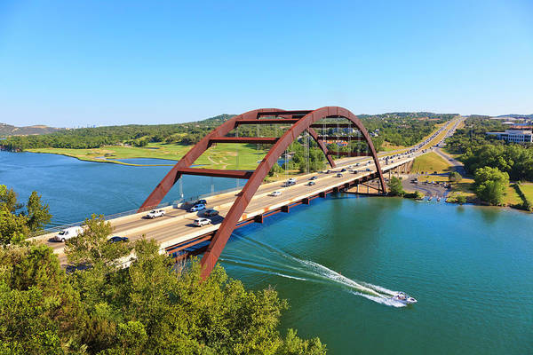 Waterskiing Photograph - Pennybacker 360 Bridge And Colorado by Dszc