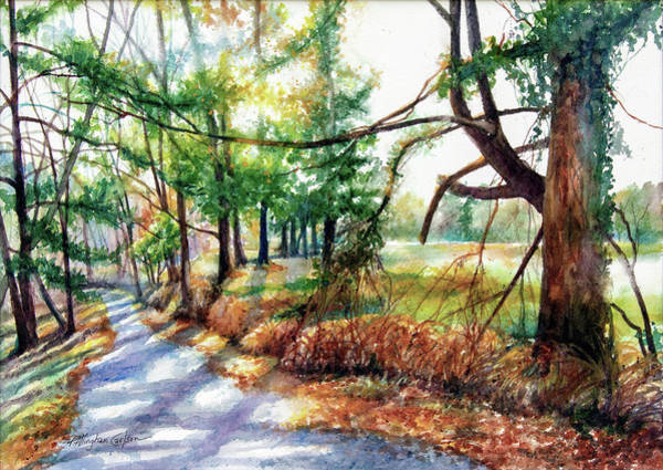 Watershed Painting - Pennypack Trail II by Patricia Allingham Carlson