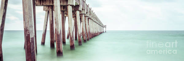 Wall Art - Photograph - Pensacola Beach Florida Gulf Pier Panorama Photo by Paul Velgos