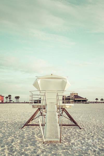Wall Art - Photograph - Pensacola Beach Florida Lifeguard Tower 2 Retro Photo by Paul Velgos