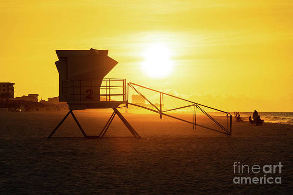 Wall Art - Photograph - Pensacola Beach Florida Lifeguard Tower Two Sunrise Photo by Paul Velgos