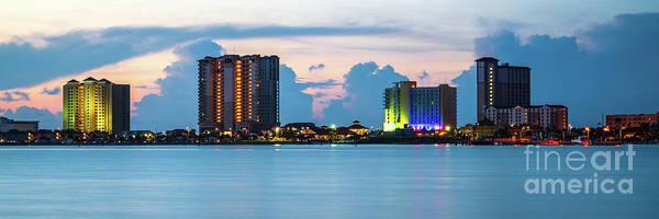 Wall Art - Photograph - Pensacola Beach Florida Skyline Panorama Photo by Paul Velgos