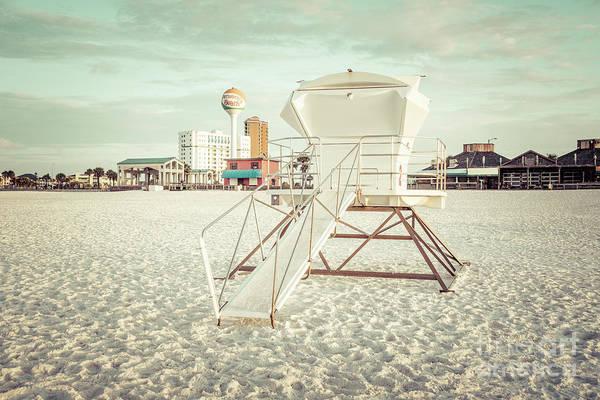 Wall Art - Photograph - Pensacola Beach Lifeguard Tower 2 Retro Photo by Paul Velgos