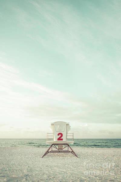 Wall Art - Photograph - Pensacola Beach Lifeguard Tower 2 Retro Vertical Photo by Paul Velgos