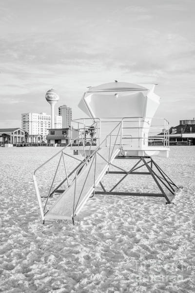 Wall Art - Photograph - Pensacola Beach Lifeguard Tower Two Black And White Photo by Paul Velgos