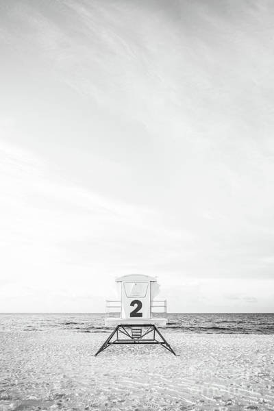 Wall Art - Photograph - Pensacola Beach Lifeguard Tower Two Black And White Picture by Paul Velgos