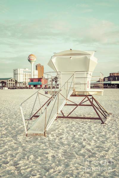 Wall Art - Photograph - Pensacola Beach Lifeguard Tower Two Retro Photo by Paul Velgos