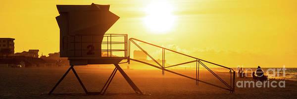 Wall Art - Photograph - Pensacola Beach Lifeguard Tower Two Sunrise Panorama Photo by Paul Velgos