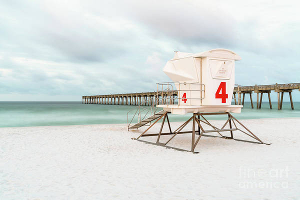 Pensacola Photograph - Pensacola Beach Pier And Lifeguard Tower 4 Photo by Paul Velgos