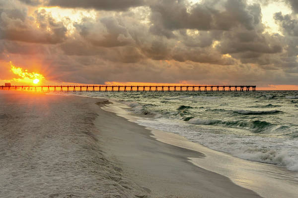 Wall Art - Photograph - Pensacola Beach Pier Sunrise - Pensacola Florida by Brian Harig