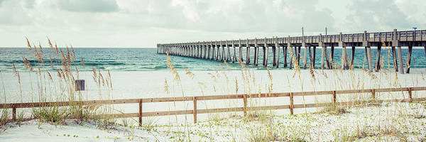 Wall Art - Photograph - Pensacola Florida Gulf Pier And Beach Fence Panorama Photo by Paul Velgos