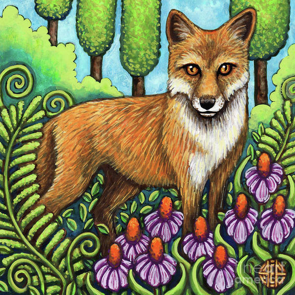 Painting - Pensive Fox by Amy E Fraser