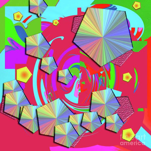 Wall Art - Digital Art - Pentagons by Merice Ewart