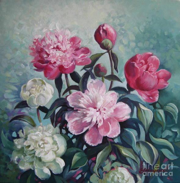 Wall Art - Painting - Peonies Season by Elena Oleniuc