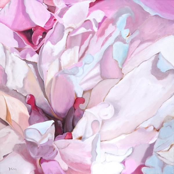Painting - Peony Blossom Oil Painting by Donna Tuten
