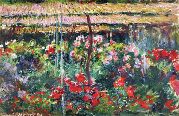 Wall Art - Painting - Peony Garden - Digital Remastered Edition by Claude Monet