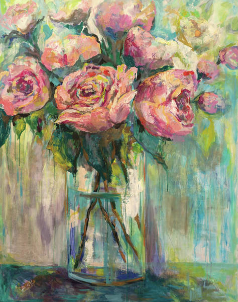 Wall Art - Painting - Peony Play by Jeanette Vertentes