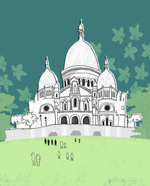 People At The Sacre-coeur Art Print