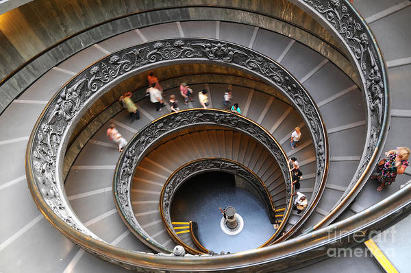 Wall Art - Photograph - People Climbing Down The Stairs Of The by The World In Hdr