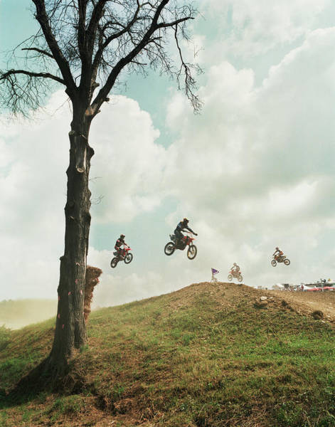 Motocross Photograph - People Competing In Motorcross Race by West Rock