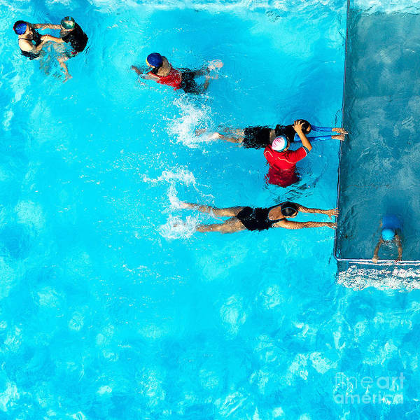 Spa Wall Art - Photograph - People Exercising In A Swimming Pool by Mongpro