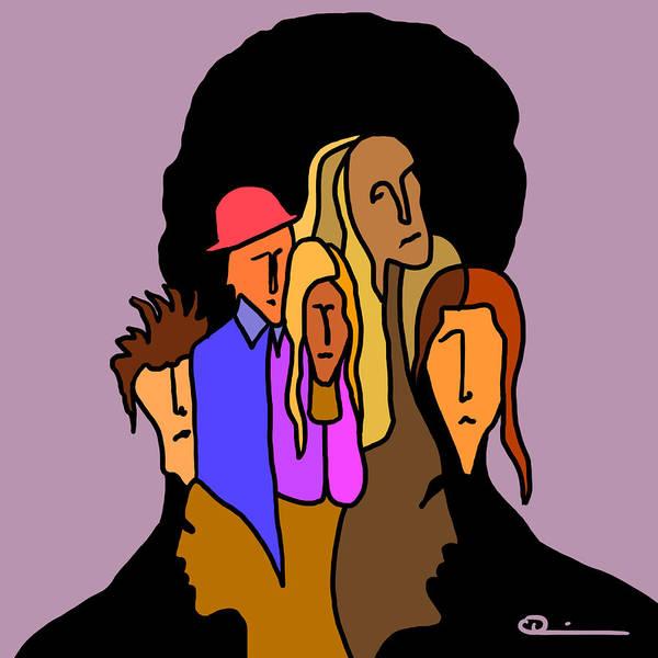 Digital Art - People by Jeff Quiros