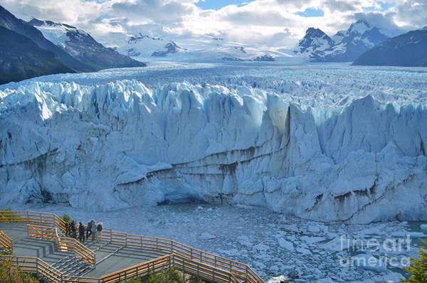 Argentina Wall Art - Photograph - People Looking At The Perito Moreno by Olga Kot Photo
