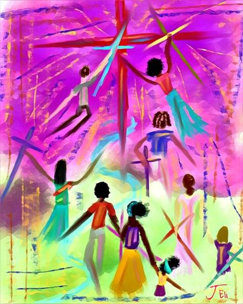 Digital Art - People Of The Cross by Jessica Eli