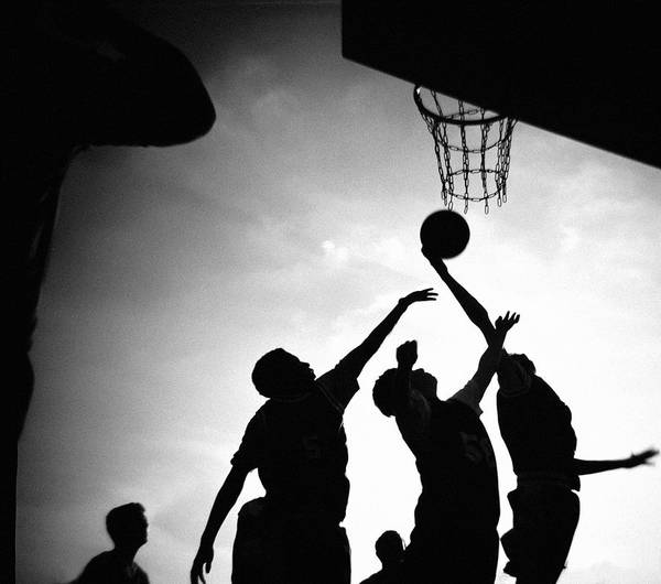 Sport Photography Photograph - People Playing Basketball by David Johnston
