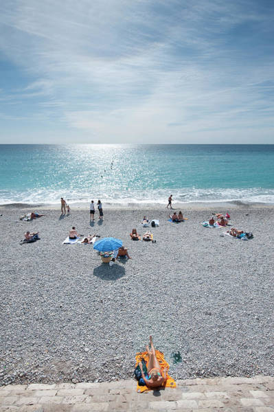 Beach Holiday Photograph - People Relaxing On Beach Near Opera by Thomas Winz