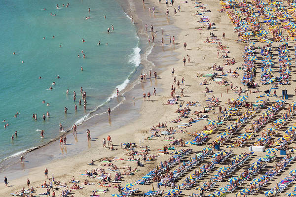Beach Holiday Photograph - People Relaxing On Puerto Rico Beach by Jorg Greuel