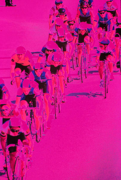 Wall Art - Photograph - People Riding Bicycles by Harold Wilion
