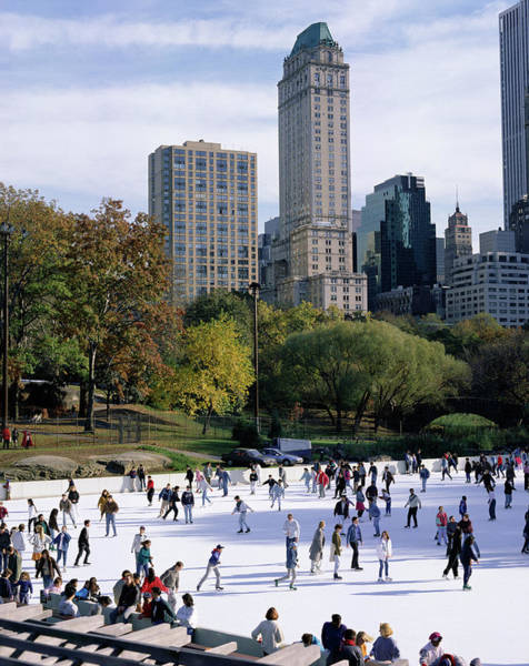 Famous People Photograph - People Skating In Central Park by Peter Scholey / Robertharding