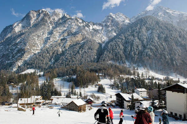 Crash Helmet Photograph - People Skiing On The Ski Piste, Winter by Bethel Fath /look-foto
