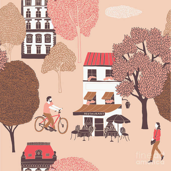 Wall Art - Digital Art - People Surrounded By Houses And Trees by Lavandaart