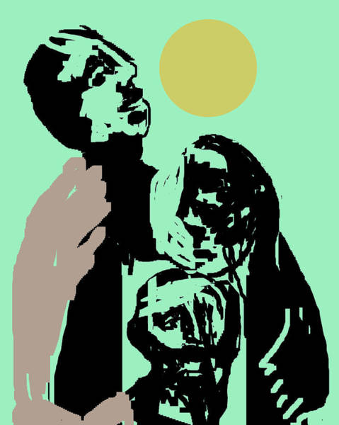 Digital Art - People Under The Sun by Artist Dot