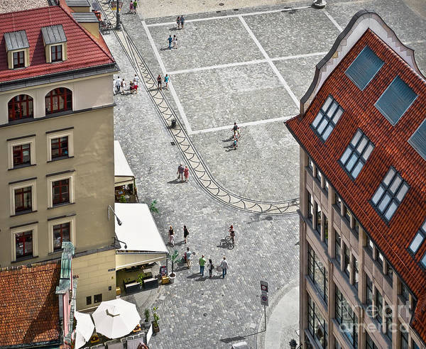 Wall Art - Photograph - People Walk On The Market Square In by Velishchuk Yevhen