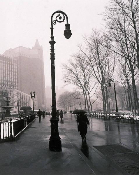 People Walking Photograph - People Walking On New York Street by Henri Silberman