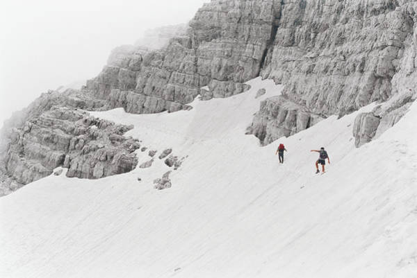 Wall Art - Photograph - People Walking On Steep Slope by Peter H. Sprosty