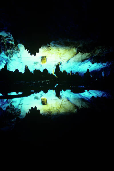 Stalagmite Photograph - Peoples Republic Of China, Guilin by Dkar Images