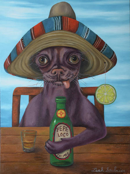 Painting - Pepe Loco   by Leah Saulnier The Painting Maniac
