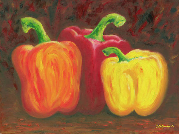Painting - Peppers 19 by Stan Sweeney