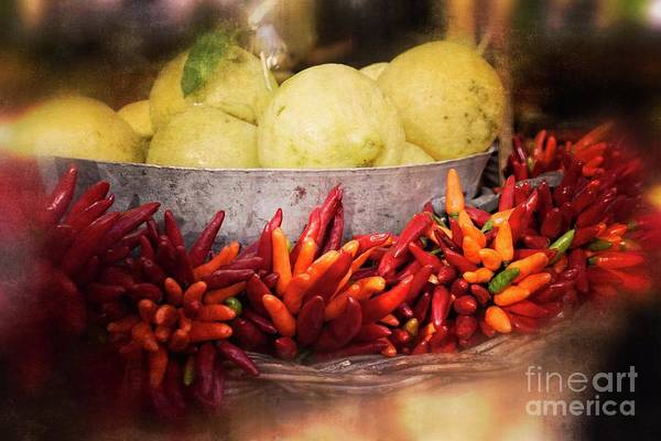 Photograph - Peppers And Lemons - Rome by Mary Machare