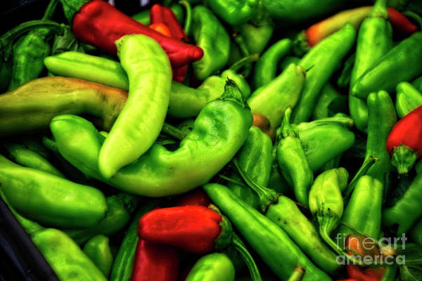 Photograph - Peppers At The Market - Rome by Mary Machare