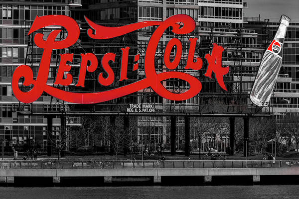 Photograph - Pepsi Cola Sign Sbw by Susan Candelario