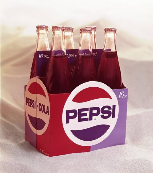 Bottle Photograph - Pepsi Cola Sixpack by Tom Kelley Archive