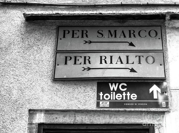 Wall Art - Photograph - Per S. Marco Per Rialto In Venice by John Rizzuto