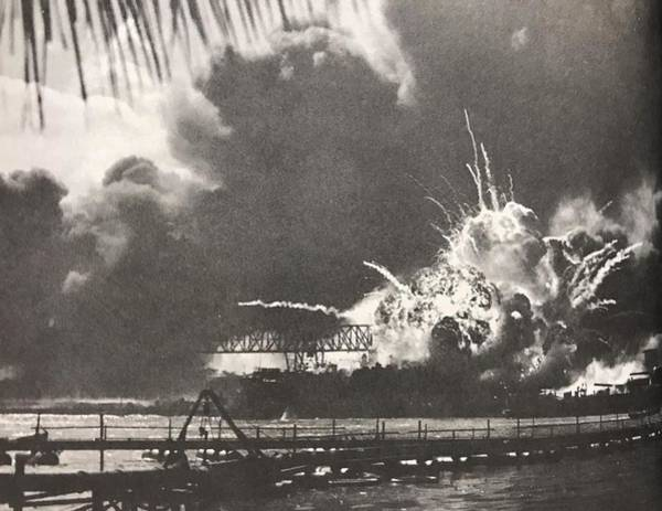 Wall Art - Photograph - Peral Harbor Bombed by Lord Frederick Lyle Morris - Disabled Veteran