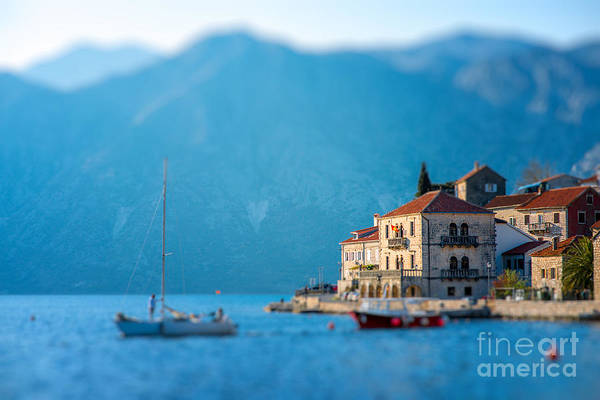 Wall Art - Photograph - Perast City In Kotor Bay On The Sunset by Rosshelen