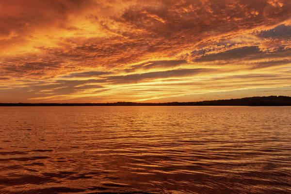 Photograph - Percy Priest Lake Sunset by D K Wall